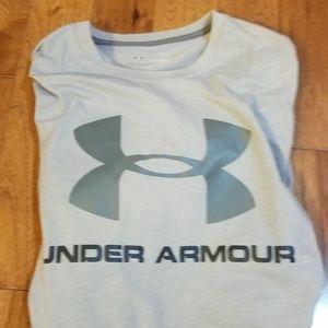 Grey under armour t shirt large